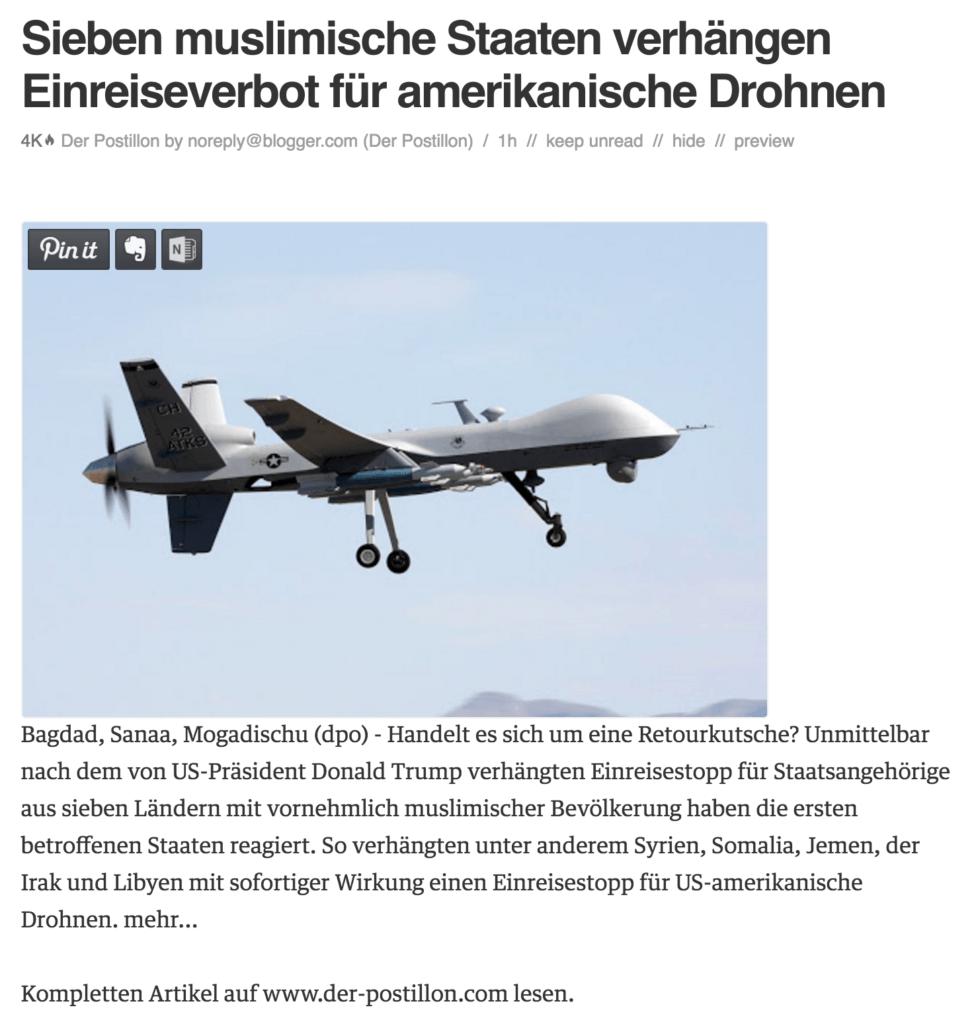 Drohnen Stop